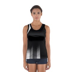 Wall White Black Abstract Women s Sport Tank Top