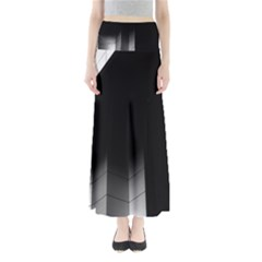 Wall White Black Abstract Maxi Skirts