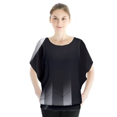 Wall White Black Abstract Blouse