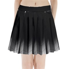 Wall White Black Abstract Pleated Mini Skirt