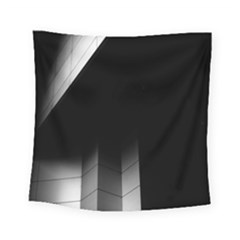 Wall White Black Abstract Square Tapestry (small)