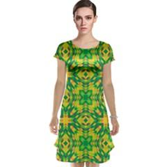 Pattern Cap Sleeve Nightdress