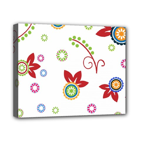 Colorful Floral Wallpaper Background Pattern Canvas 10  X 8