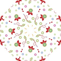 Colorful Floral Wallpaper Background Pattern Hook Handle Umbrellas (small)