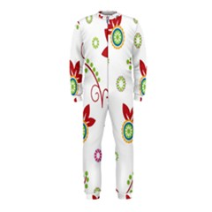 Colorful Floral Wallpaper Background Pattern OnePiece Jumpsuit (Kids)