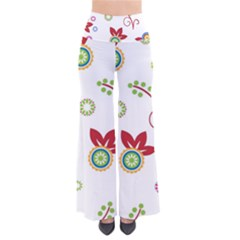 Colorful Floral Wallpaper Background Pattern Pants