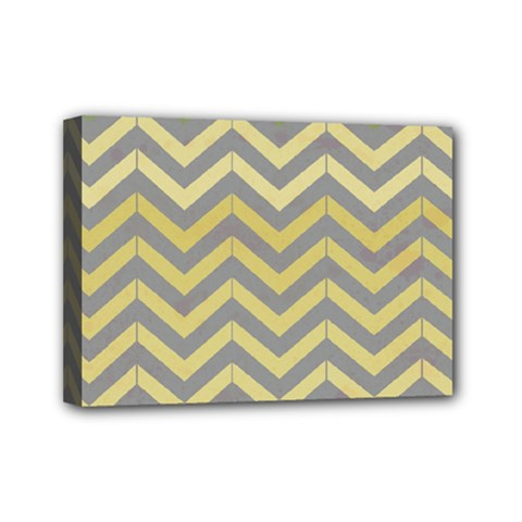 Abstract Vintage Lines Mini Canvas 7  X 5