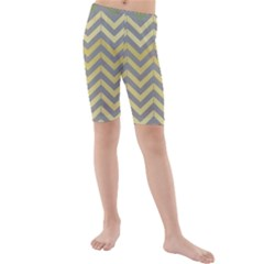 Abstract Vintage Lines Kids  Mid Length Swim Shorts