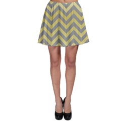 Abstract Vintage Lines Skater Skirt