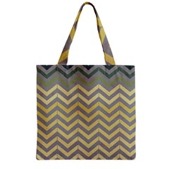 Abstract Vintage Lines Grocery Tote Bag