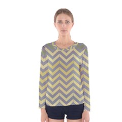 Abstract Vintage Lines Women s Long Sleeve Tee