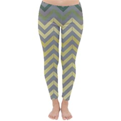 Abstract Vintage Lines Classic Winter Leggings