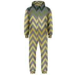 Abstract Vintage Lines Hooded Jumpsuit (Men)