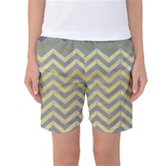 Abstract Vintage Lines Women s Basketball Shorts