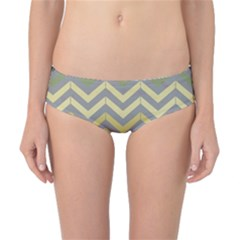 Abstract Vintage Lines Classic Bikini Bottoms