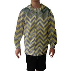 Abstract Vintage Lines Hooded Wind Breaker (kids)