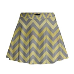 Abstract Vintage Lines Mini Flare Skirt