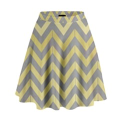 Abstract Vintage Lines High Waist Skirt