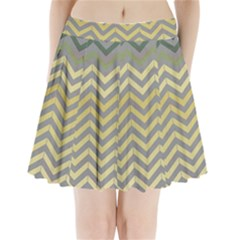 Abstract Vintage Lines Pleated Mini Skirt