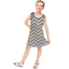 Abstract Vintage Lines Kids  Tunic Dress