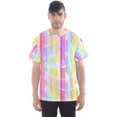 Colorful Abstract Stripes Circles And Waves Wallpaper Background Men s Sport Mesh Tee