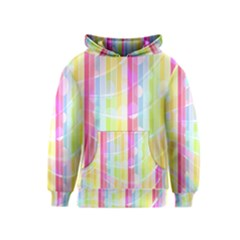 Colorful Abstract Stripes Circles And Waves Wallpaper Background Kids  Pullover Hoodie