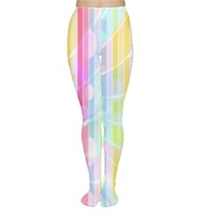 Colorful Abstract Stripes Circles And Waves Wallpaper Background Women s Tights