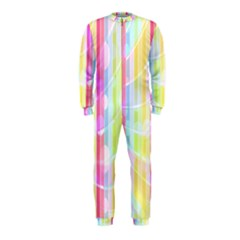 Colorful Abstract Stripes Circles And Waves Wallpaper Background OnePiece Jumpsuit (Kids)
