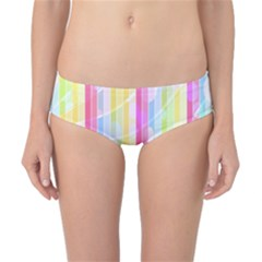 Colorful Abstract Stripes Circles And Waves Wallpaper Background Classic Bikini Bottoms