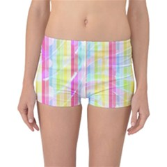 Colorful Abstract Stripes Circles And Waves Wallpaper Background Reversible Bikini Bottoms