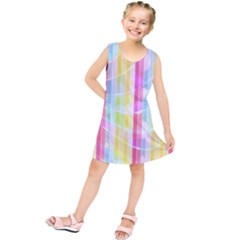Colorful Abstract Stripes Circles And Waves Wallpaper Background Kids  Tunic Dress