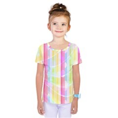 Colorful Abstract Stripes Circles And Waves Wallpaper Background Kids  One Piece Tee