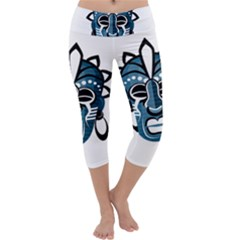 Mask Capri Yoga Leggings