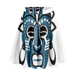 Mask High Waist Skirt