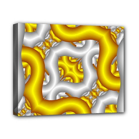 Fractal Background With Golden And Silver Pipes Canvas 10  X 8