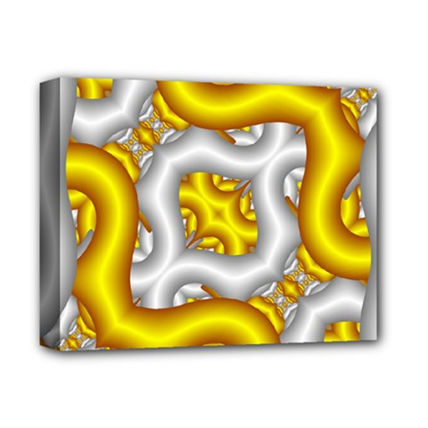 Fractal Background With Golden And Silver Pipes Deluxe Canvas 14  x 11