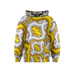 Fractal Background With Golden And Silver Pipes Kids  Pullover Hoodie