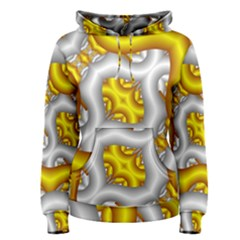Fractal Background With Golden And Silver Pipes Women s Pullover Hoodie