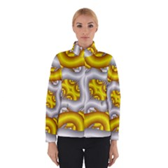 Fractal Background With Golden And Silver Pipes Winterwear
