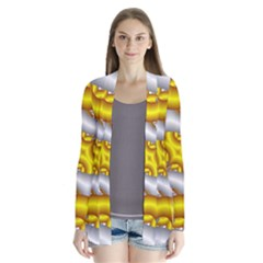 Fractal Background With Golden And Silver Pipes Cardigans