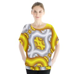 Fractal Background With Golden And Silver Pipes Blouse