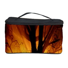 Rays Of Light Tree In Fog At Night Cosmetic Storage Case