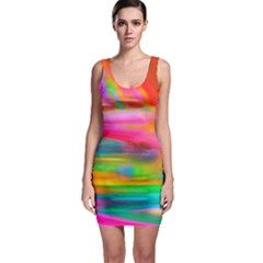 Abstract Illustration Nameless Fantasy Sleeveless Bodycon Dress