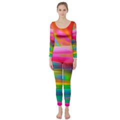 Abstract Illustration Nameless Fantasy Long Sleeve Catsuit