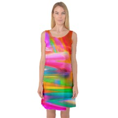 Abstract Illustration Nameless Fantasy Sleeveless Satin Nightdress