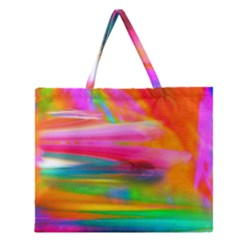 Abstract Illustration Nameless Fantasy Zipper Large Tote Bag