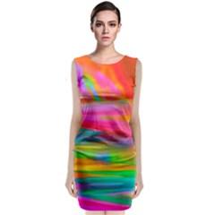 Abstract Illustration Nameless Fantasy Classic Sleeveless Midi Dress