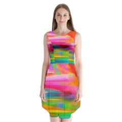 Abstract Illustration Nameless Fantasy Sleeveless Chiffon Dress
