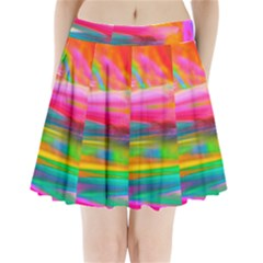 Abstract Illustration Nameless Fantasy Pleated Mini Skirt