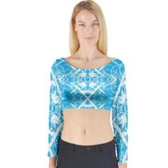 Pattern Long Sleeve Crop Top